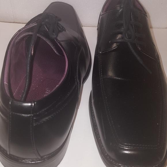 Freeman Mens Black Dress Shoes Size